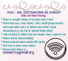 """ PGC - NIL DISTANCING IN CHRIST"""